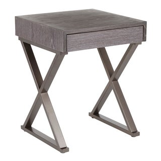 Copper Grove Galabovo Industrial End Table in Metal and Wood