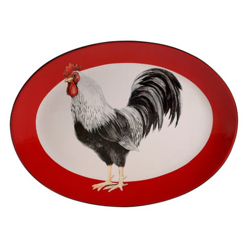 Certified International Homestead Rooster Oval Platter