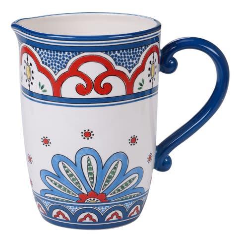 Certified International Tangier Ceramic Pitcher