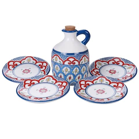 Certified International Tangier Ceramic 5-piece Olive Oil Set