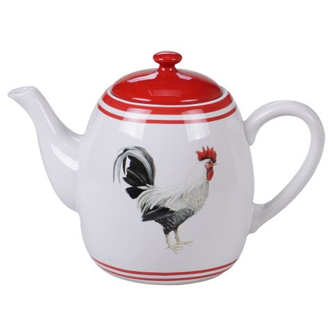 Certified International Homestead Rooster Teapot