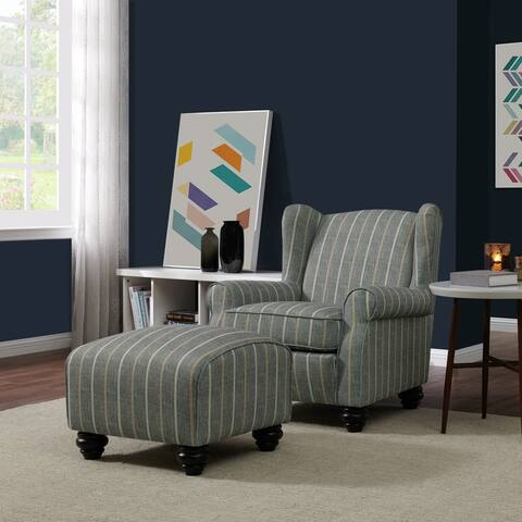 Copper Grove Halen Chair and Ottoman Set