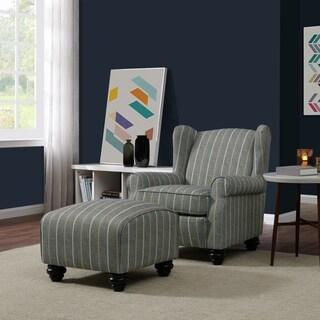 Copper Grove Halen Chair and Ottoman Set