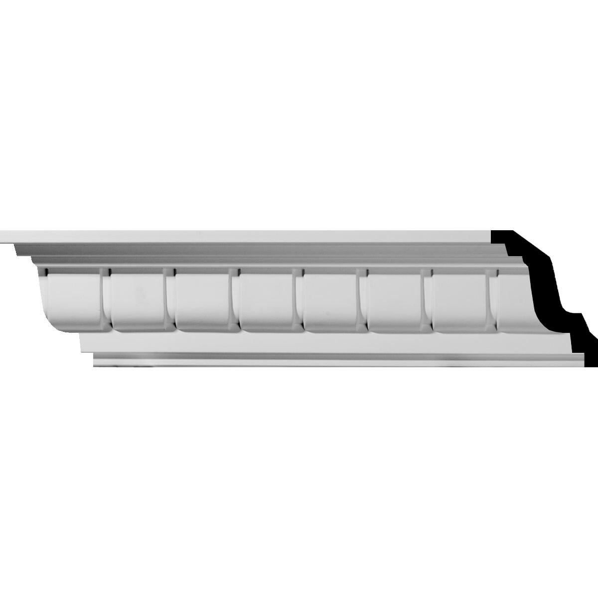 Eris Dentil Crown Moulding 4 1 4 H X 4 1 8 P X 5 1 4 F X 94 1 2 L Overstock 27129207