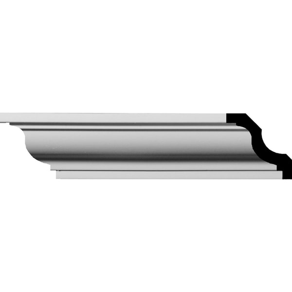"""Jackson Traditional Smooth Crown Moulding - 1 5/8""""H x 1 5/8""""P x 2 1/4""""F x 94 1/2""""L"""