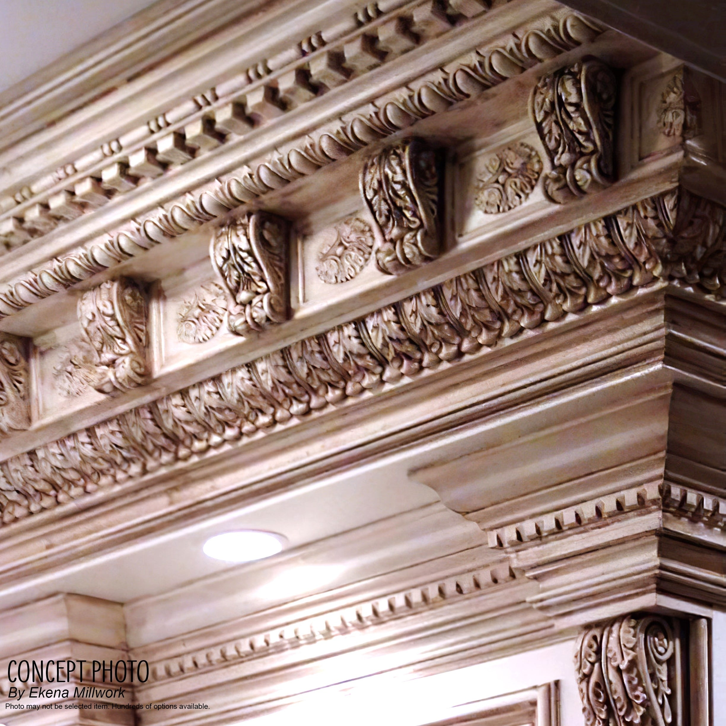 8-Pack 3H x 2P x 3 5//8F x 94 1//2L Lisbon Traditional Smooth Crown Moulding