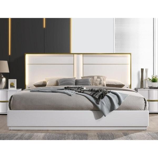 Shop Best Master Furniture Platform White With Gold