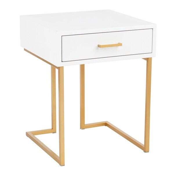 Carson Carrington Crossgar Contemporary Glam End Table