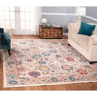 The Curated Nomad Nob Hill Distressed Ivory/ Blue Rug