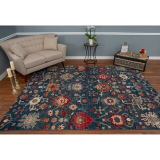 The Curated Nomad Nob Hill Distressed Blue/ Grey Rug