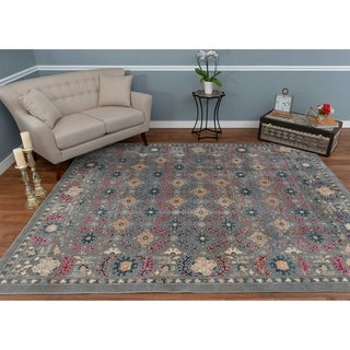 The Curated Nomad Nob Hill Distressed Grey/ Blue Oriental Rug