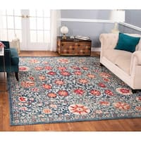 The Curated Nomad Nob Hill Distressed Blue/ Red Rug