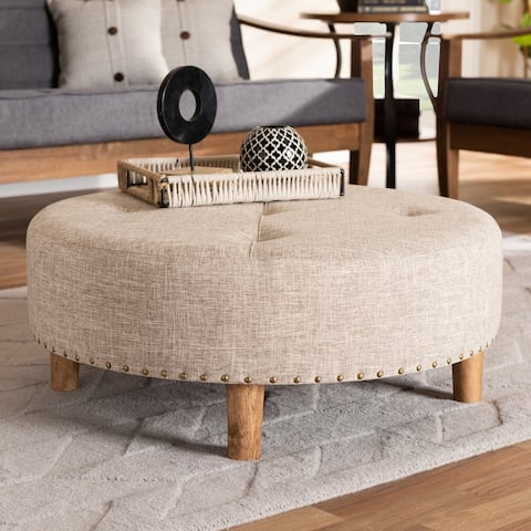 Modern and Contemporary Fabric Cocktail Ottoman