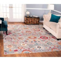 The Curated Nomad Nob Hill Distressed Multi Floral Rug