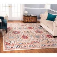 The Curated Nomad Nob Hill Distressed Beige/ Red Rug