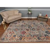 The Curated Nomad Nob Hill Distressed Grey/ Blue Rug