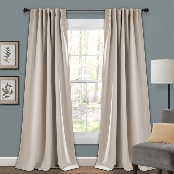 Porch & Den Linda Insulated Back Tab Blackout Window Curtain Panel Pair. Opens flyout.