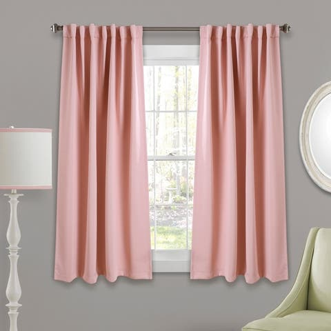 Porch & Den Linda Insulated Back Tab Blackout Window Curtain Panel Pair
