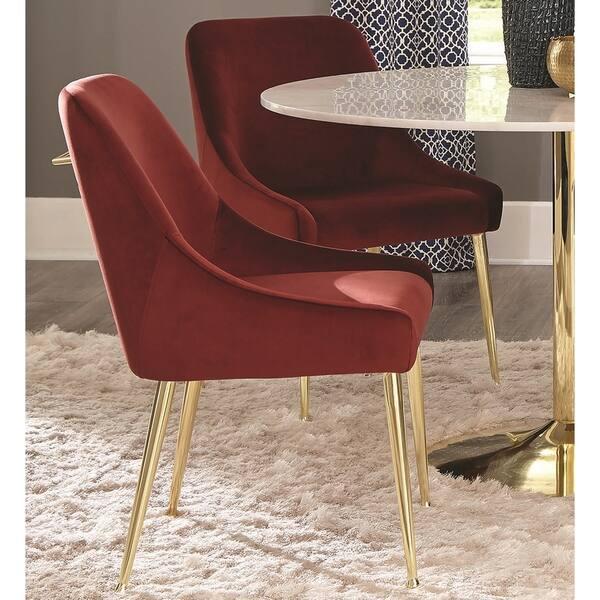 Fine Shop Modern Classic Design Rustic Red Velvet And Brass Ncnpc Chair Design For Home Ncnpcorg