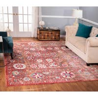 The Curated Nomad Nob Hill Distressed Rust Rug