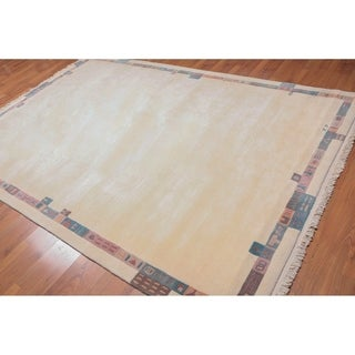 "Hand Knotted Traditional Wool Tibetan Area Rug (6'7""x9'8"") - 6'7"" x 9'8"""