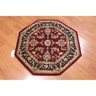 "Traditional Hand Knotted Wool Persian Oriental Area Rug (3'4""x3'4"") - 3'4"" x 3'4"""