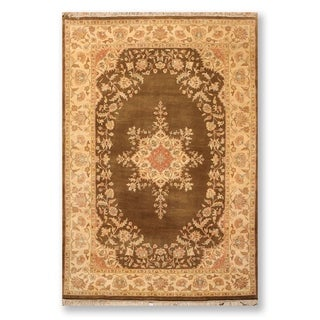 "Kerman Hand Knotted Wool Indo Persian Oriental Area Rug  (5'x7'9"") - 5' x 7'9"""