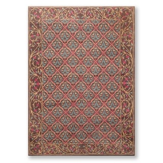 "Hand Knotted Wool Classic European Tibetan Area Rug (6'x8'4"") - 6' x 8'4"""