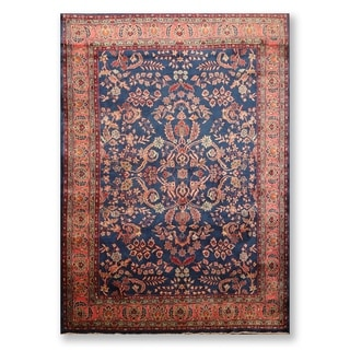 "Hand Knotted 250 KPSI Sarouk Wool Indo Persian Area Rug (5'2""x6'10"") - 5'2"" x 6'10"""