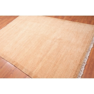 "Hand Knotted Wool Modern Tibetan Area Rug (6'1""x8'7"") - 6'1"" x 8'7"""