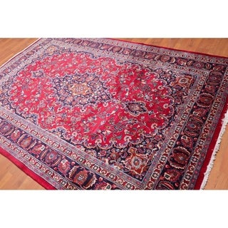 """Traditional Mashad Hand Knotted Wool Persian  Area Rug (6'7""""x9'8"""") - 6'7"""" x 9'8"""""""