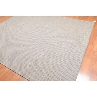 Reversible Hand Knotted Wool Flatweave Area Rug (8'x10') - 8' x 10'