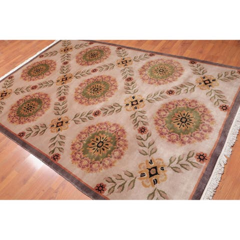 """Traditional Classic Hand Knotted Wool Tibetan Area Rug (6'x9'1"""") - 6' x 9'1"""""""