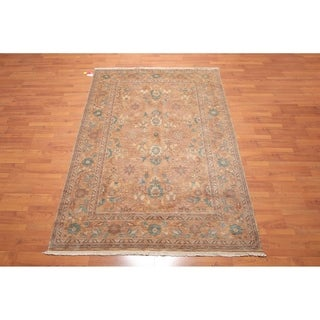 Hand Knotted Oushak Wool Persian Oriental Area Rug (6'x9') - 6' x 9'