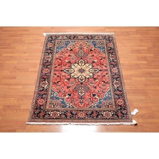 """Traditional Heriz Hand Knotted Wool Persian Oriental Area Rug (5'2""""x6'9"""") - 5'2"""" x 6'9"""""""