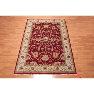 """Hand Knotted Wool Indo Persian Jaipur Oriental Area Rug (6'1""""x8'11"""") - 6'1"""" x 8'11"""""""