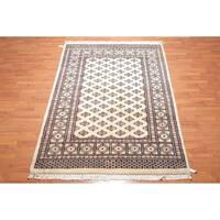 "Bokhara Tekke Hand Knotted Wool Persian Oriental Area Rug (6'1""x9') - 6' x 9'"