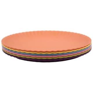 Link to Melange 6-Piece Melamine Dinner Plate Set (Paper Plate Collection) Shatter-Proof Dinner Plates  Multicolor Similar Items in Dinnerware