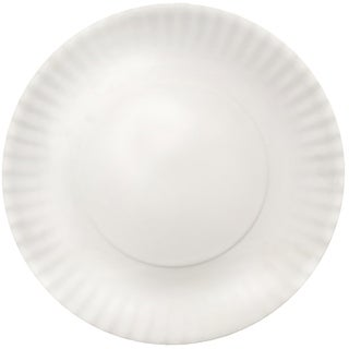 Melange 6-Piece Melamine Dinner Plate Set (Paper Plate Collection)|Shatter-Proof Dinner Plates| White
