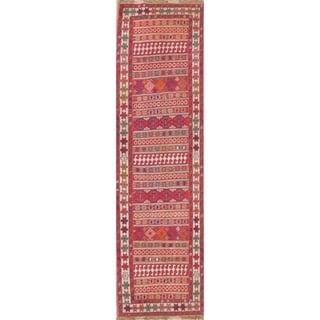 """Gracewood Hollow Mattos Geometric Hand-woven Wool Persian Runner Rug - 9'3"""" x 2'8"""" Runner"""