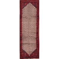 "Copper Grove Stroby Geometric Hand Made Wool Persian Rug - 10'0"" x 3'2"" Runner"