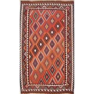 "Gracewood Hollow Masliah Geometric Hand-woven Wool Persian Area Rug - 8'10"" x 5'4"" Runner"
