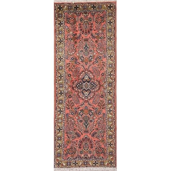 Gracewood Hollow Rossi Handmade Wool Floral Persian Runner Rug - 2'5 x 7'0