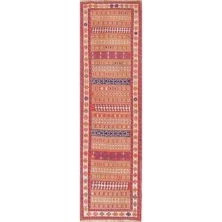 "Copper Grove Strib Geometric Hand Woven Wool Persian Rug - 8'10"" x 2'7"" Runner"