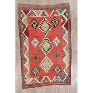 "Gracewood Hollow Archibald Hand-woven Geometric Wool Area Rug - 7'9"" x 5'0"""