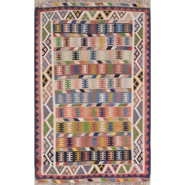 "Copper Grove Vibysj Geometric Hand Woven Wool Persian Area Rug - 5'2"" x 3'4"""