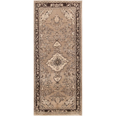 Copper Grove Hvalso Floral Handmade Wool Persian Heirloom Item Area Rug - 8'4 x 3'5 Runner
