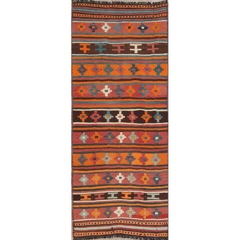 """Gracewood Hollow Belgrave Hand-woven Geometric Wool Persian Runner Rug - 7'4"""" x 3'0"""" Runner"""