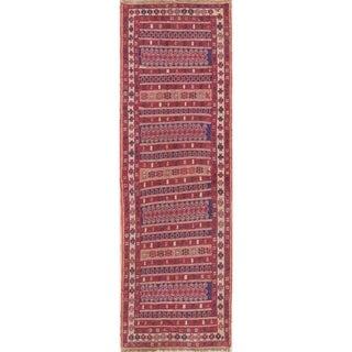 """Gracewood Hollow Mattos Geometric Hand-woven Wool Persian Runner Rug - 8'9"""" x 2'8"""" Runner"""