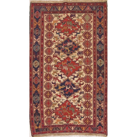 "Copper Grove Klarup Geometric Hand Woven Wool & Silk Persian Area Rug - 6'8"" x 4'"